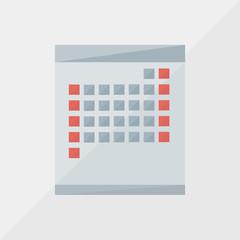 calendar icon by triangles, polygon vector illustration