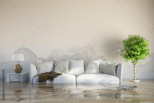 wasserschaden im haus nach berschwemmung stockfotos und. Black Bedroom Furniture Sets. Home Design Ideas