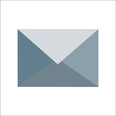 grey envelope (e-mail)  icon by triangles, polygon