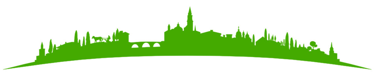 Deurstickers Skyline Südeuropa grün