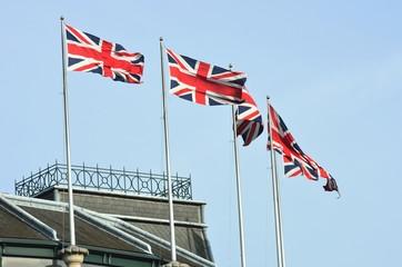 Union Jacks on Building