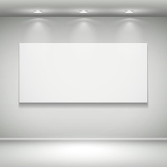 blank illuminated frame on the wall