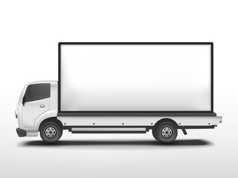 vector 3d blank mobile billboard
