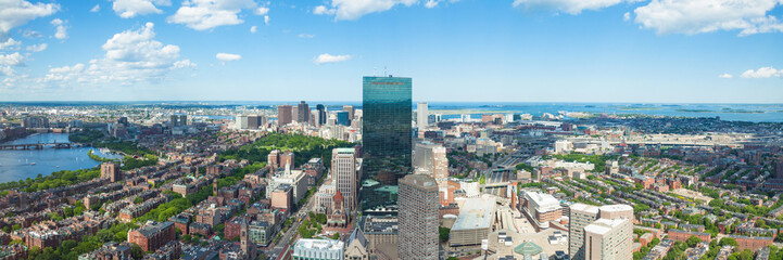 Aerial view of Boston skyline - Massachusetts - USA
