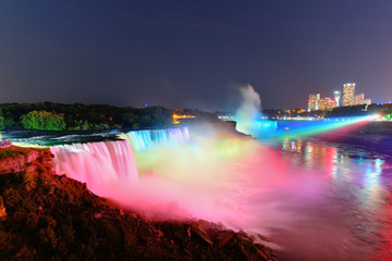 Fototapete - Niagara Falls in colors