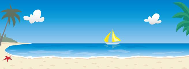 Paysage panoramique de plage