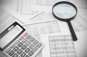 The calculator and magnifier