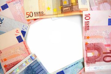 Framework from banknotes.