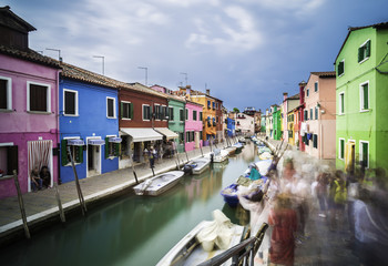 Multicolored houses in Venice