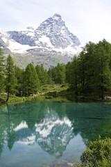 Foto auf Gartenposter Gebirge Lago Blu