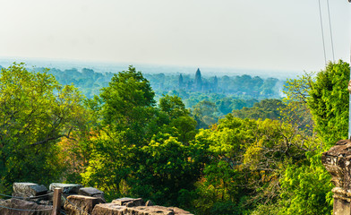 Far view of Angkor Wat in Siem Reap, Cambodia