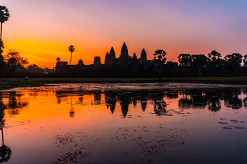Angkor Wat Sunrise in Seam Reap, Cambodia