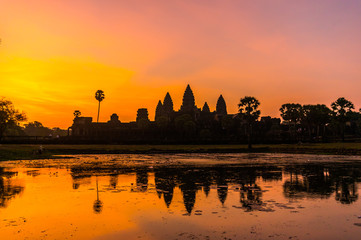 Angkor Wat Sunrise in Siem Reap, Cambodia