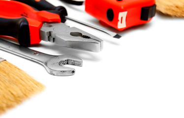 Tools on a white background.