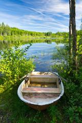 Summer morning on Swedish lake