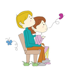 cartoon couple
