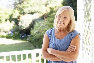 Senior woman in garden