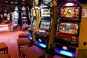 Tuinposter Las Vegas slot machine