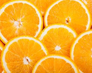 ripe juicy orange slices
