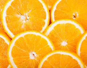ripe fruit citrus orange slices