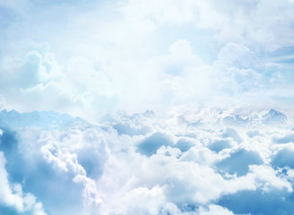 Self adhesive Wall Murals Heaven Over the Clouds