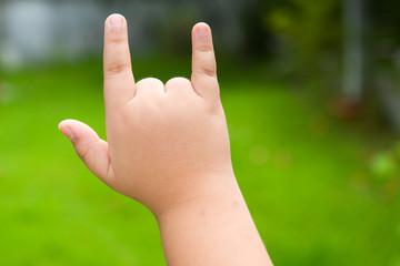 love symbol hand