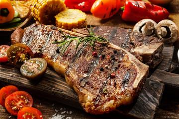 Succulent tender grilled porterhouse steak