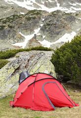 Camping in National Park Retezat, Romania