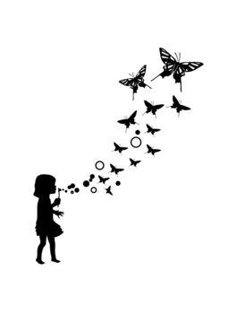 Seifenblasen Schmetterling