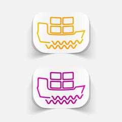 realistic design element: ship