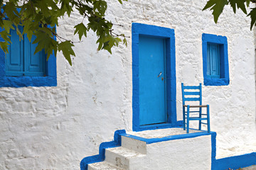 Traditional house at Kos island in Greece
