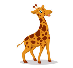 Illustration of cute giraffe