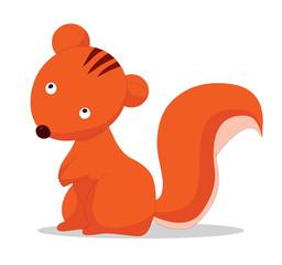 Illustration of cute squirrels