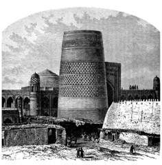 Ancient Minaret - Khiva (Ouzbekistan)