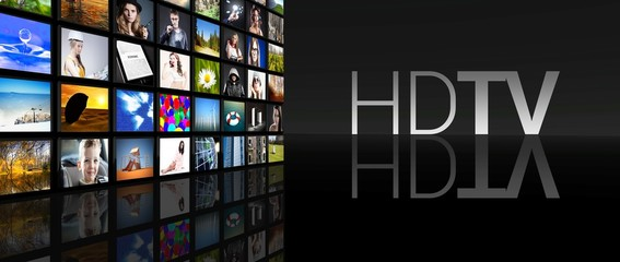 HD TV television screens black background