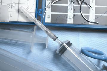 Medical symbols. Syringe, surgical needles