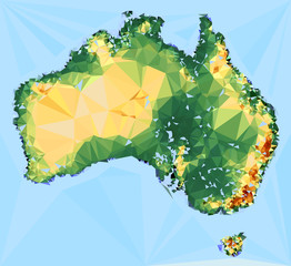 Geometrical Australia Map vector Illustration