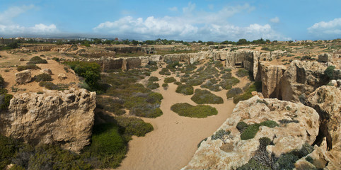 archaeological park panorama in cyprus