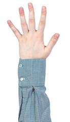 five fingers hand gesture