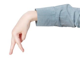 walking finger man - hand gesture