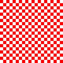 rot-weiß kariert