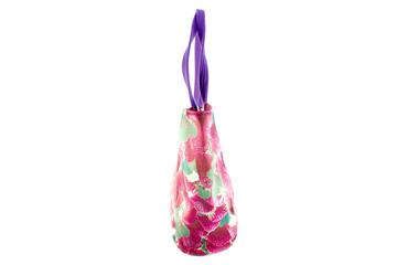 Women bag with purple strawberry