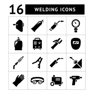 Set icons of welding