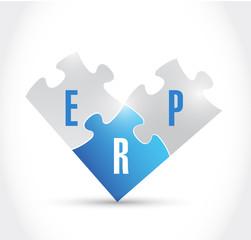 erp puzzle pieces illustration design