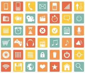 Vector Set Of Mobile Icons