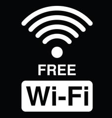 Monochrome WiFi text symbol