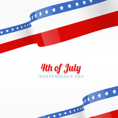 vector american independence day background