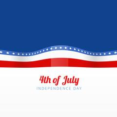vector illustration of american flag