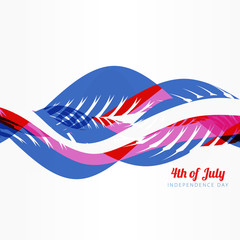 wave style american 4th of july