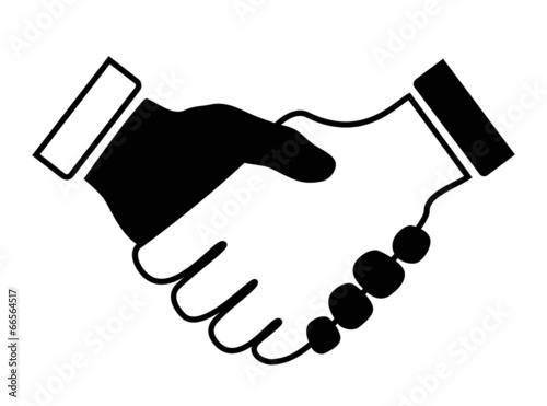 handshake icon stock image and royalty free vector files on fotolia rh fotolia com handshake vector icon free download handshake vector icon free